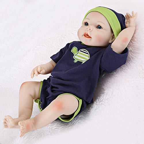UCanaan Reborn Baby Dolls 20 Inch Lifelike Baby Reborn Toddler Girl Full Silicone Body Toy with Gift Set