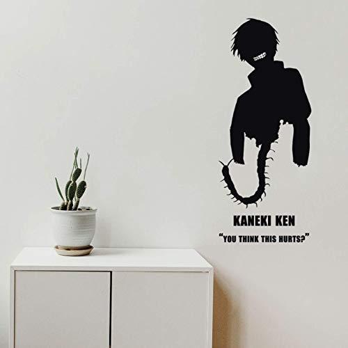 AGiuoo Usted Piensa Que está lastimado Etiqueta de la Pared del hogar Dormitorio habitación de los niños Arte Anime decoración Vinilo extraíble 37x84cm