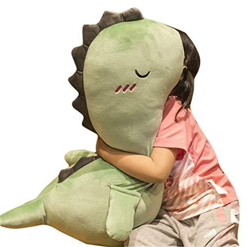 WJTMY Kissen Spielzeug Kissen-Kinder grüner Dinosaurier plüsch Puppe länge weiche Jungen mädchen Dinosaurier Kissen Spielzeug, Geschenk for Baby/Kinder/Teen (Size : 90cm)