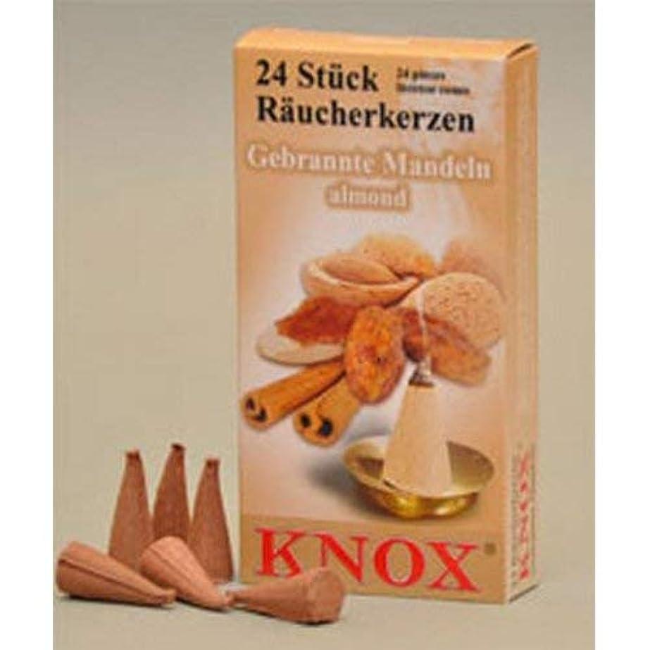遅滞挨拶受粉者Knoxアーモンド香りGerman Incense Conesドイツ製forクリスマスSmokers