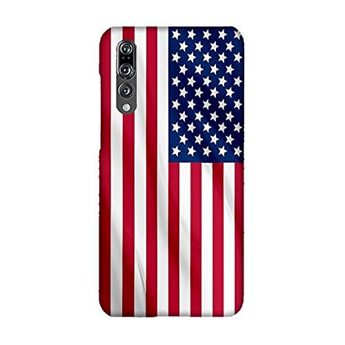 Funda Carcasa Compatible con Huawei P20 Pro Banderas de la Ciudad EE.UU/TPU Suave Gel de Silicona/Teléfono Hard Snap en Antideslizante Anti-Rayado Resistente a los Golpes TPU