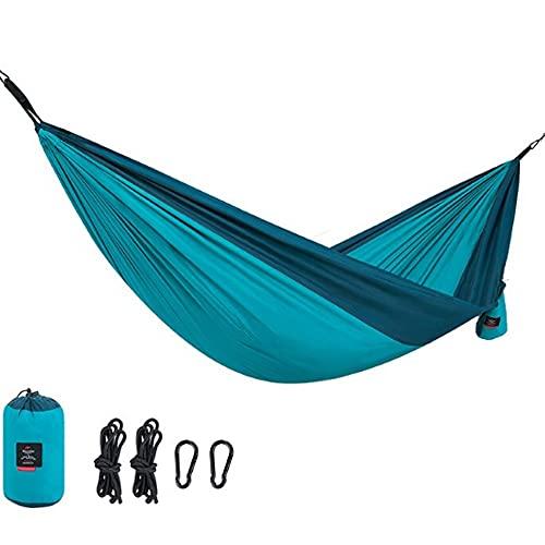 QAZ Hamaca Camping Viaje Dobles Máx 180kg Capacidad De Carga (290x180cm) 2 Mosquetones Premium 2 Correas De Hamaca Interior Exterior Patio Beach Senderismo