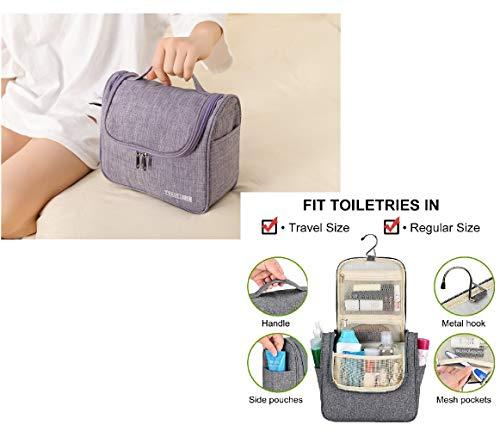 Reizen Hangende Toilettas, Cosmetica Make-up en Toiletten Organizer, Compacte Badkamer Opslag, TSA Vriendelijk, Thuis, Gym, Vliegtuig, Hotel, Auto