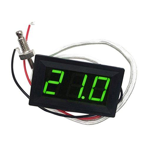 LED Autothermometer Innen/Außen DC 12V Auto KFZ Thermometer Digital Thermometer Panel-Meter -30 bis +800 ℃ - Grün