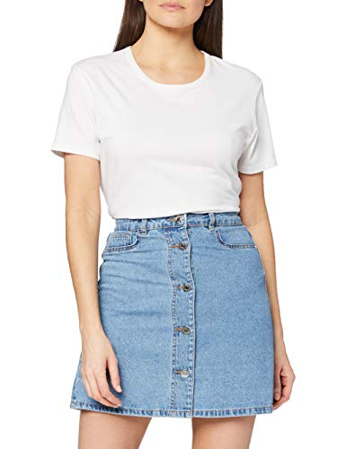 NOISY MAY Damen NMSUNNY SHORTDNM Skater Skirt GU124 NOOS Rock, Blau (Light Blue Denim Light Blue Denim), 38 (Herstellergröße:M)