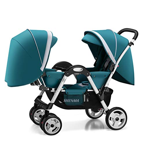 Check Out This ZZLYY Double Baby Stroller by – Twin Lightweight Infant Stroller with Carry Handle ...