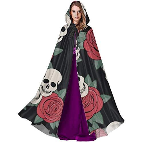 Zome Lag hekmagie omhang,volwassene luxe omhang,kap met capuchon, vampierkostuum, dag de doden snoepjes voor volwassenen en heren cloak hooded cloaks