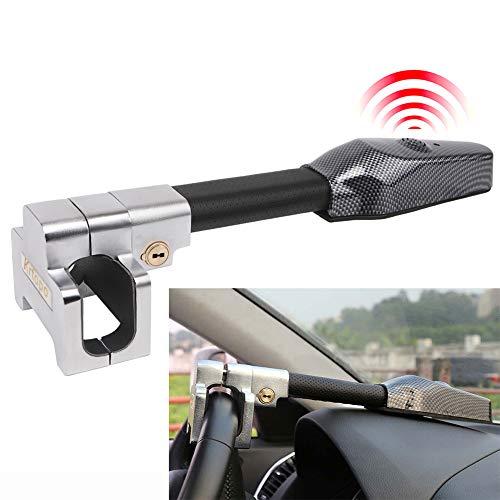 Bloqueo del Volante Alarma,Alta seguridad,Auto Antirrobo Bloqueo,Bloqueo Giratorio Ajustable Autodefensa,Universal para Todos Vehículos