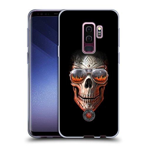 Head Case Designs Oficial Anne Stokes Fuego del Infierno Cráneo Carcasa de Gel de Silicona Compatible con Samsung Galaxy S9+ / S9 Plus