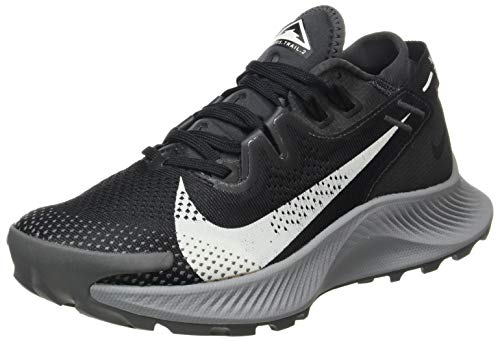 Nike W Pegasus Trail 2, Scarpe da Corsa Donna, Black/Spruce Aura-Dk Smoke Grey-Particle Grey-Iron Grey, 40.5 EU