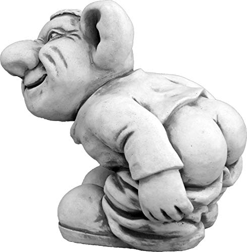 gartendekoparadies.de Lustiger Troll,Leck Mich!'' aus Steinguss, frostfest