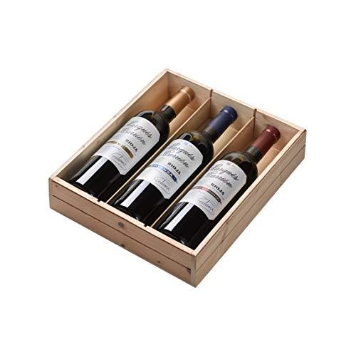 Marqués de Carrión - Estuche de 3 Botellas de Vino con D.O. Rioja - Reserva, Crianza y Vendimia Seleccionada - Estuche de 3 Botellas x 750 ml