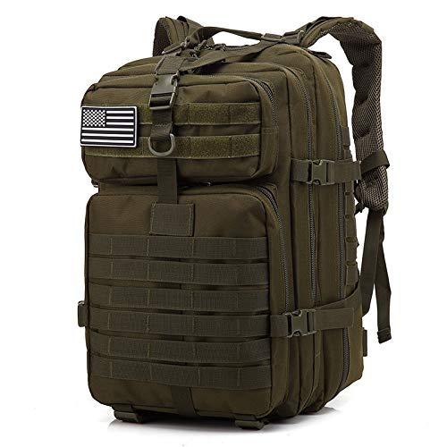 N\C Mochilas Tácticas del Ejército del Hombre De Gran Capacidad De 50L Bolsas De Asalto Militar Al Aire Libre 3P EDC Molle Pack para Trekking Camping Hunting Bag Verde