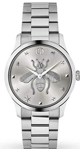 Gucci Unisex Uhr Stahl MIT Biene auf dem ZIFFERBLATT YA1264126