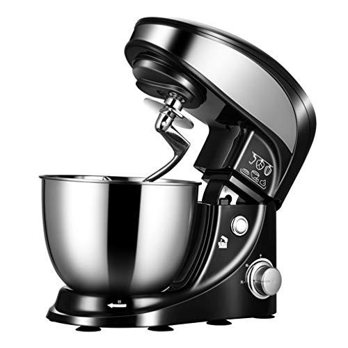 YUN HAI Quiet Cocina Batidora De Pie 1000W Eléctrico Chef Mixer con 4.4Qt Stainelss Acero Bowl, Batidores, Batidor, Gancho Amasador, Vertiendo El Escudo, El Diseño De Seguridad, Negro