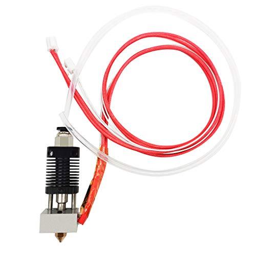 Chowcencen Fin Caliente Extrusora Boquilla Kit de 0,4 mm de latón Boquilla ET4 Garganta de la tobera Tubo Bloque Calentador de Repuesto para Impresora Anet ET4 3D