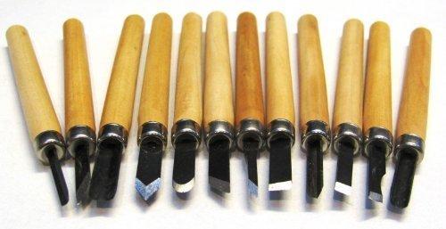 Mini-snijgereedschap 12-delig snijmes mes voor hobby houtsnijden