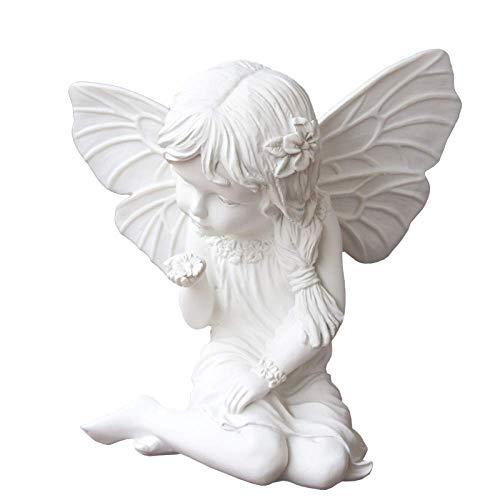 LXDDP Romántica Mariposa Hada niña Flor Escultura Estatua Figura estatuilla para Regalos decoración del hogar