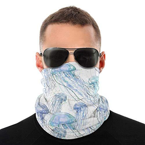 Kasonj azul marino medusas conjuntos bandana cara cuello polaina cara bufanda máscara polvo-polvo, transpirable a prueba de viento pesca senderismo correr ciclismo