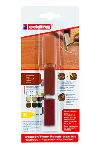 edding 4-8902-1-4606 Holzboden-Reparaturwachs-Set 8902 DIY, kirschbaum