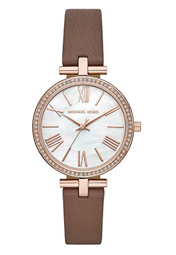 Michael Kors Damen Analog Quarz Uhr mit Leder Armband MK2832