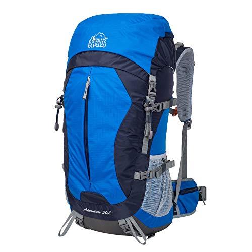 Aveler 50L Unisex Lightweight Nylon Inner Frame Backpack with Rain Cover