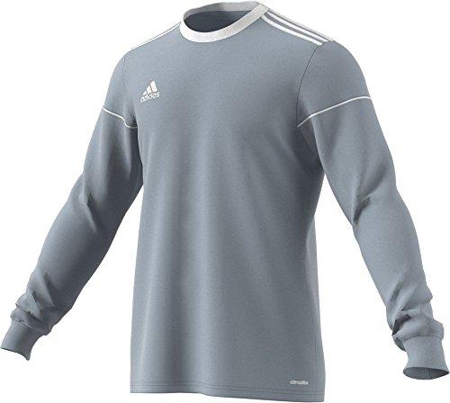 adidas Squadra 17 - Camisa de Manga Larga para Hombre, Hombre, Camisa, BUJ06, Gris Claro/Blanco, L