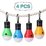 Vdealen Lámpara LED para Tienda de campaña, lámpara de luz de Emergencia, Funciona con Pilas, Impermeable, portátil, para Senderismo, Pesca, Camping, reparación de Coche, Paquete F-4