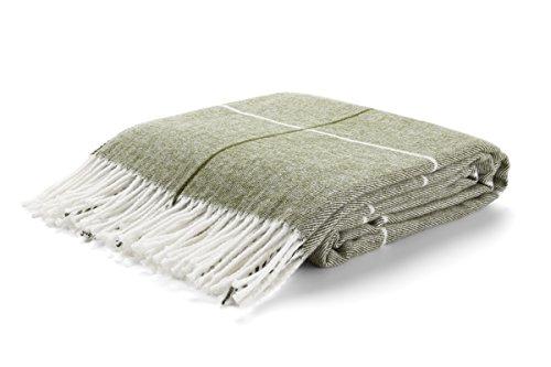 Arus, Kuscheldecke Wohndecke Tagesdecke Couch Überwurf Plaid Reisedecke, Light Green, 100% Polyacryl, ca. 150x200 cm, 260 gr/cm²