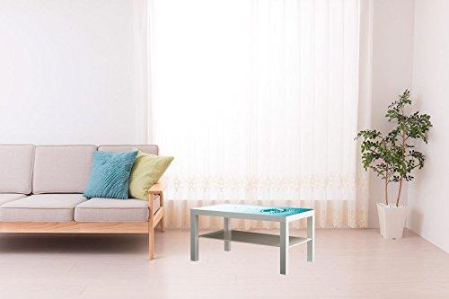 Forex PVC para Mesa IKEA Lack Personalizada Gotas de Agua | Medidas 1,18 m x 0,78 m | Forex PVC de 5 mm | Decorativo Diseño Elegante