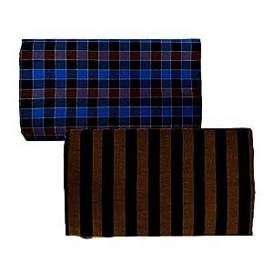 Riyashree men's cotton lungi for men free size 2 meter Flungi 009 013