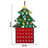 Formulatud Weihnachtsbaum Filz kleine Christbaumschmuck Weihnachtsbaum Filz mit Seil für Kinder Multicolor