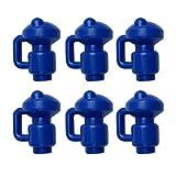 POHOVE 6/8 Stück Trampolin-Gestänge Stangenkappe 3,8 cm Durchmesser Trampolin-Stangenkappe Netzhaken Trampolin-Haken Gehäuse für Flachstahlblech-Top-Ringsystem
