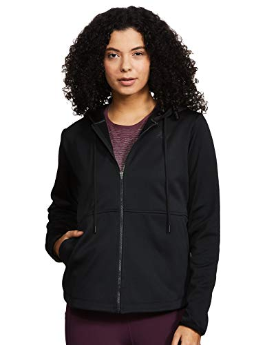 New Balance Relentless Fleece Full Zip Chaqueta, Mujer, Negro, Medium