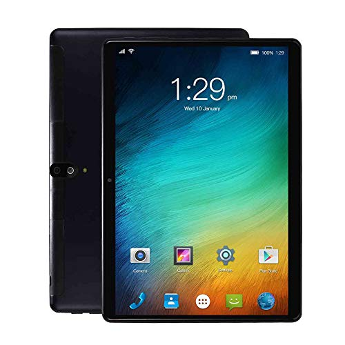 CYY Tableta Android de 10 Pulgadas, 32GB de ROM + Escalable 128GB,Procesador Quad Core,Pantalla IPS HD,WiFi Bluetooth GPS,Cámara Dual 2.0+5.0 MP,4000mAh Batería