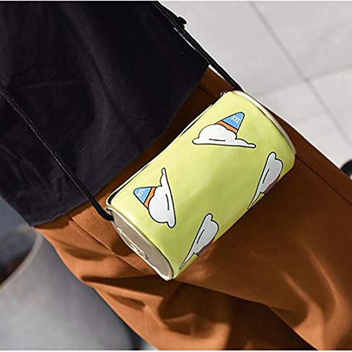 Bolsas de un solo hombro Diseño popular Mostrar opinión de moda Bolsos cruzados Coca-Cola en forma de helado Bolso bandolera Messenger Bag (Negro)