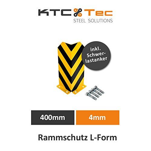 Rammschutz Regalschutz Anfahrschutz Rammschutzecke Eckschutz Regal Lager Säulenschutz L-Form 400mm 4mm