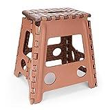 【踏み台 折りたたみ】Lifinsky 踏み台 子供 大人兼用 脚立 ステップ台 折りたたみスツール 高さ40cm ブラウン
