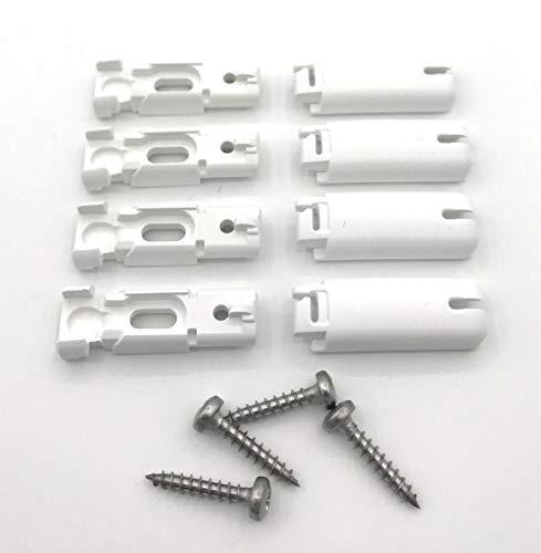 COSIFLOR Spannschuhe für verspannte Plissees (4 Stück) – Farbe: weiß – passend für Stick & Fix Klebeträger und Stick & Fix Front Klebeplatten