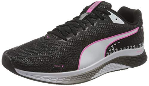 PUMA Damen Speed SUTAMINA 2 WN's Straßen-Laufschuh, Black White Luminous Pink, 36 EU