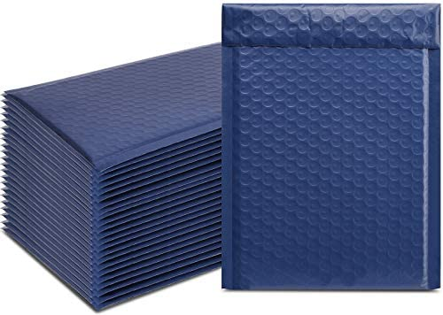 TOMVYTER 25Pcs 6x10 Bubble Mailers Navy Blue Padded Envelopes Self Seal Lined Wrap Poly Bubble product image