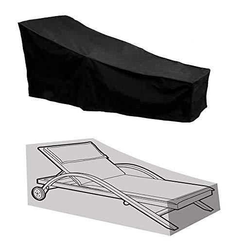 Doublez Copertura per mobili da Giardino con Materiale 210D Oxford Patio Lettino Copertura Impermeabile per Sdraio Protezione per mobili,82 * 30 * 31.5-15.7 inch
