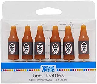Bakery Crafts Beer Shaped Cake Candles - 6 pc