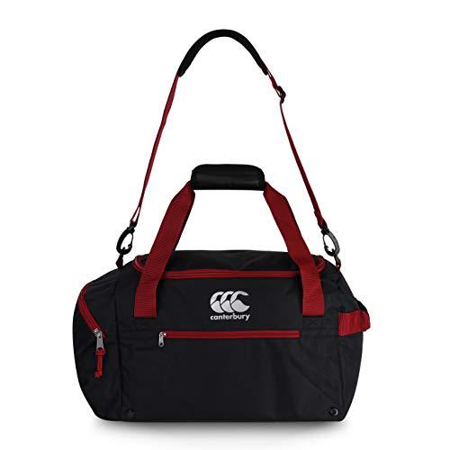 Canterbury Unisex's kleine sporttas, zwart/rood Dahlia, één maat