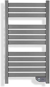 IKOHS WARMTOW - Toallero Eléctrico Bajo Consumo, 500 W, Calentador, Secador de Toallas, Secado Potente, Pantatalla LCD, IP24 antisalpicaduras, Apto para Baños, Programable, Temporizador