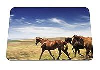 22cmx18cm マウスパッド (馬の牧草地の速度) パターンカスタムの マウスパッド