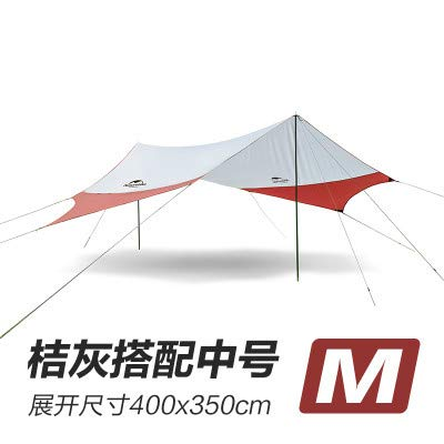 Mdsfe Naturehike Large Camping Tent Awning Sun Shelter with pole Beach Playing Games Fishing Hiking Outdoor 5 Person Tent Sun Shelter-M Red