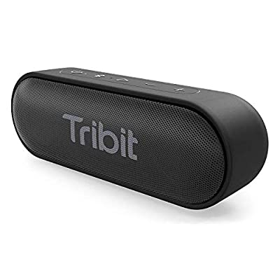 Bluetooth Speaker, Tribit XSound Go 12W Portable Speakers Loud Stereo Sound, IPX7 Waterproof, Rich Bass, 24 Hour Playtime, 20M Bluetooth Range Outdoor Party Wireless Speaker-The Telegraph's Choice from Tribit