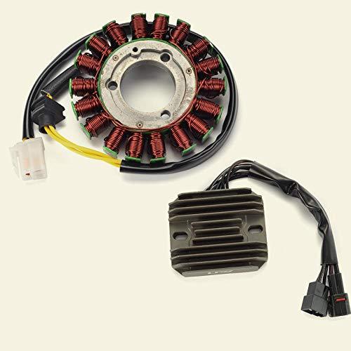 ZMMWDE Rectificador de regulador de Voltaje de Motocicleta y Conjuntos de Bobina de estator GSXR-600 GSXR-750,para Suzuki GSXR600 GSXR750 2006-2008 GSXR 600800
