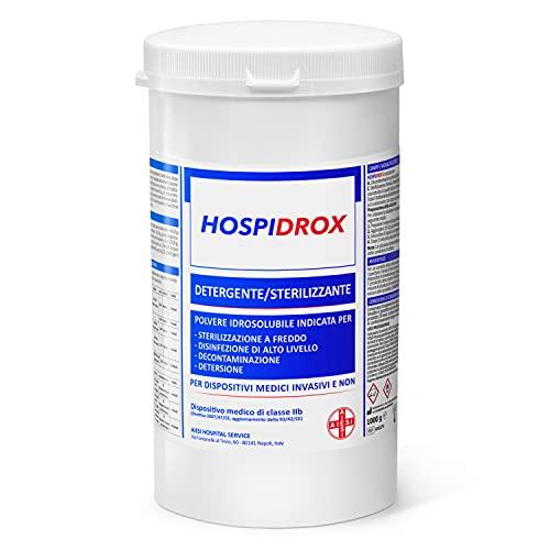 AIESI Sterilizzante a freddo in polvere per ferri chirurgici dispositivi medici strumenti estetica acido peracetico 1 kg HOSPIDROX # Detergente # Decontaminante # Tempo di contatto 10 MINUTI